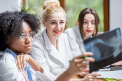 Group of medical students in the classroom Royalty Free Stock Photo