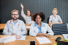 Group of medical students in the classroom Stock Photos