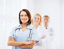 Group of medical workers Royalty Free Stock Image