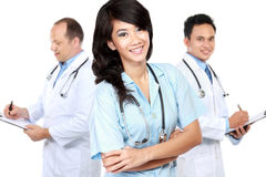Group of medical workers Stock Image