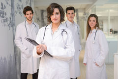 Group of medical workers portrait in hospital Royalty Free Stock Image