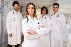 Group of medical workers portrait in hospital Royalty Free Stock Photography