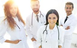 Group of medical workers portrait in hospital Royalty Free Stock Photo