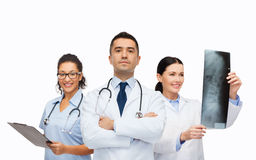 Group of medics with x-ray Stock Image