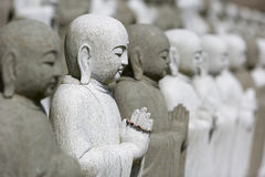 Group Of Meditating Buddhas Stock Photos