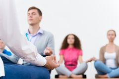 Group meditation Stock Photos