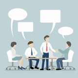 Group Meeting of Business People with Speech Bubble Royalty Free Stock Photos