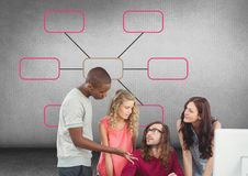 Group meeting with mind map Royalty Free Stock Photo