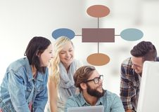 Group meeting with mind map Stock Image