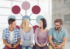 Group meeting with mind map Stock Photography