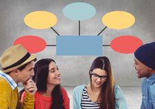 Group meeting with mind map Royalty Free Stock Photos