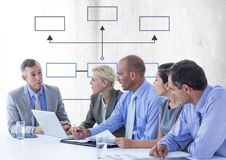 Group meeting with mind map Stock Photo