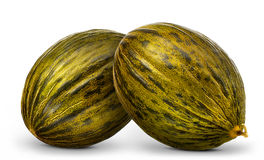 Group of melons isolated on white background Royalty Free Stock Images