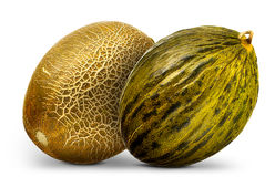 Group of melons isolated on white background Stock Image