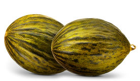 Group of melons isolated on white background Stock Photo