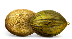 Group of melons isolated on white background Stock Photography