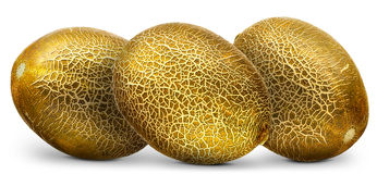 Group of melons  on white background Royalty Free Stock Images
