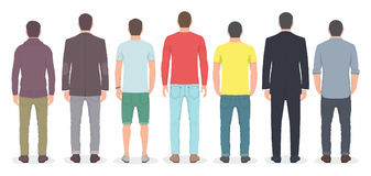 Group of men from back Stock Photography