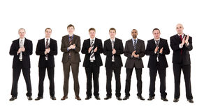Group of men clapping hands Stock Photography