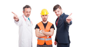Group of men with different professions Royalty Free Stock Images