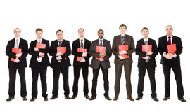 Group of men with documents Stock Photos