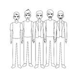 Group of men icon Royalty Free Stock Image