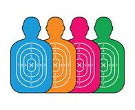 Group of men paper targets. A group of men paper targets Royalty Free Stock Photo