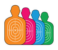 Group of men paper targets. A group of men paper targets Royalty Free Stock Images