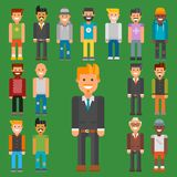 Group of men portrait different nationality friendship character team happy people young guy person vector illustration. Stock Photography