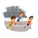 Group of men running Royalty Free Stock Images