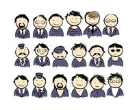 Group of men for your design Royalty Free Stock Photography