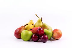 Group of meridional fruits on a white background Royalty Free Stock Photography