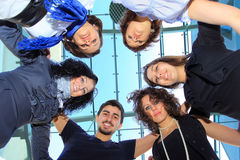 Group of merry students Stock Images