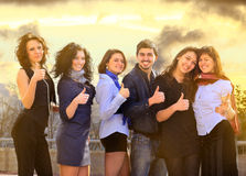 Group of merry students. Stock Photography