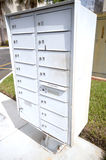 Group of metal Mailboxes Stock Photos
