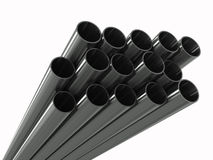Group metal pipe Stock Photography