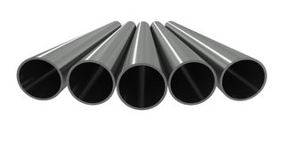Group metal pipe Royalty Free Stock Photography