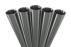Group metal pipe Stock Photo