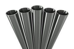 Group metal pipe Stock Photo