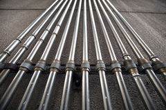 Group of metal tubes Stock Image