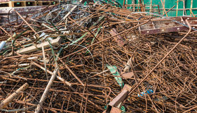 The group of metal wire for construction wait for recycle Stock Image