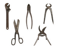 Group of metalwork tools Royalty Free Stock Photos