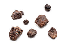 Group of meteorites. Group of meteorite isolated on white background royalty free stock photos