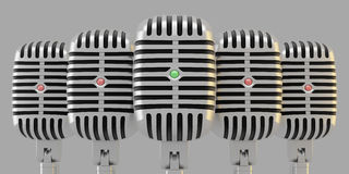 Group of microphones Royalty Free Stock Photo