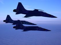 The  group of military aircraft Stock Image