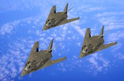 The  group of military aircraft Stock Images