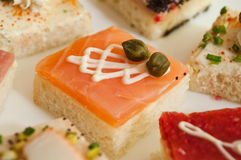 Group of mini toasts Stock Photography