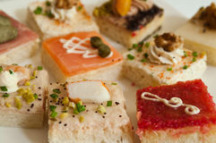 Group of mini toasts Stock Images