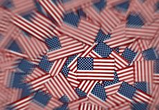 Miniature American flags background pattern Royalty Free Stock Image