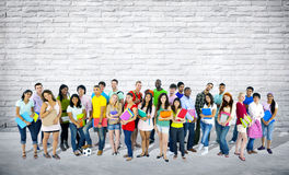 Group of Mixed Age and Race Students.  Royalty Free Stock Photos